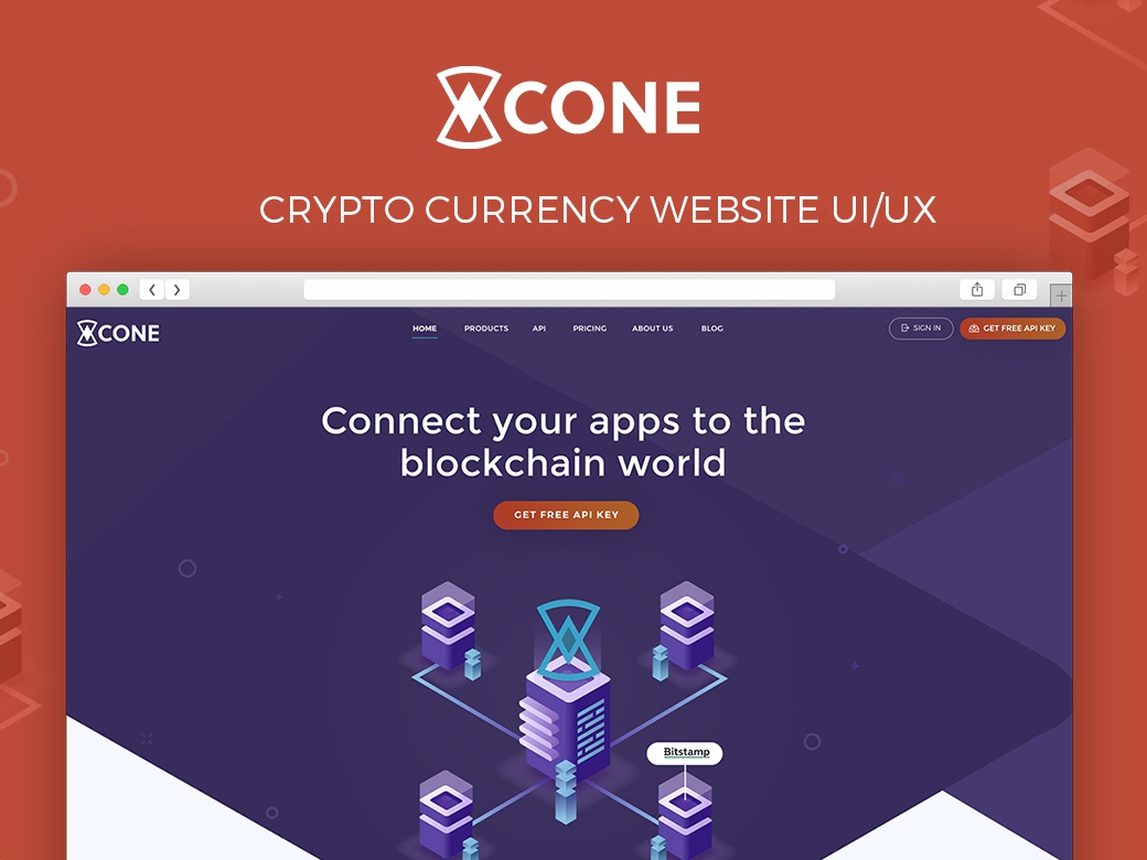 Web Design for CryptoCurrency API cryptocurrency illustration branding landing page web design