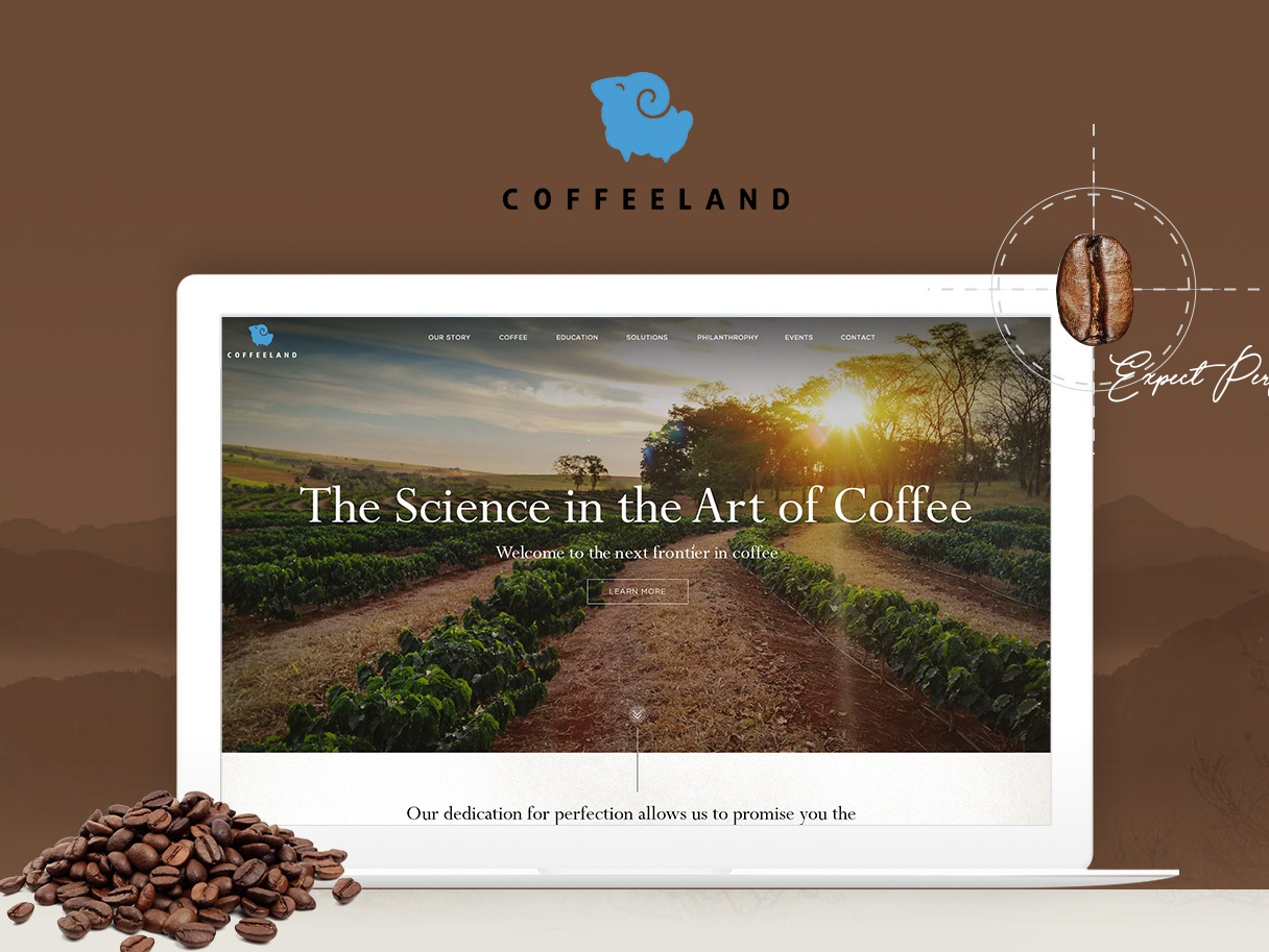 UI/UX for Coffee Company coffee uiuxdesign illustration branding landing page web design