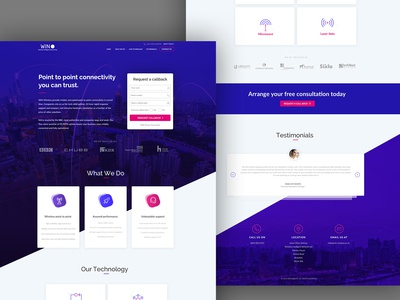 Landing Page design for Wireless Security Agency