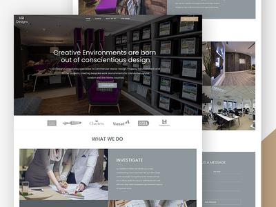 Landing page design for Interior Design Company