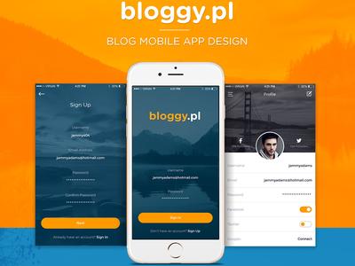 Blog Mobile App Design