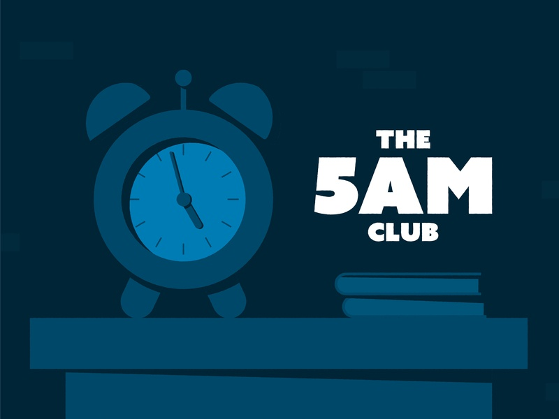 The 5am Club! vector 2d adobe design motion graphics animation designer early morning early bird alarm alarm clock development illustration the 5am club