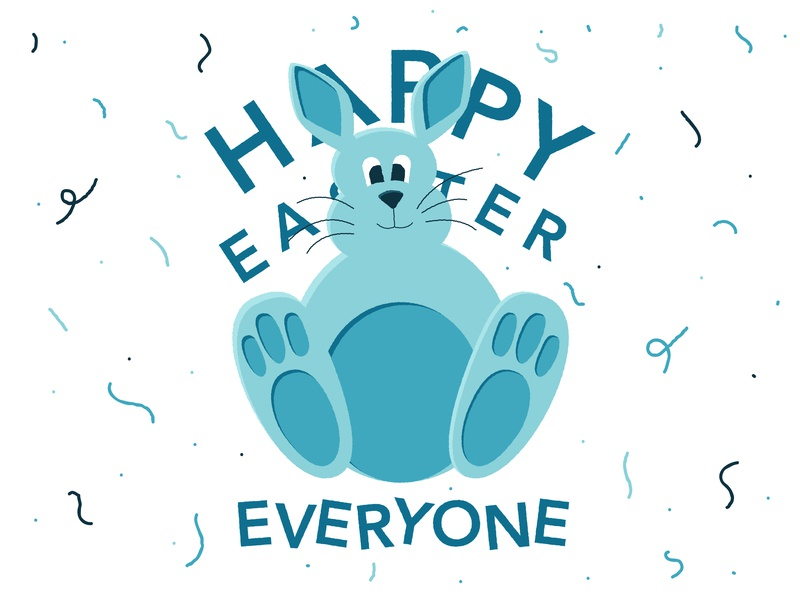 Happy Easter happy design illustration art hare celebration party happy easter easter rabbit drawing doodle sketch