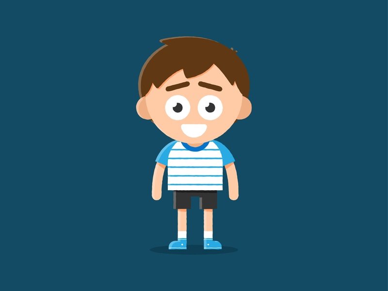 Character Development emotion vector illustrator animation design shorts happy boy play child development kid characterdesign character