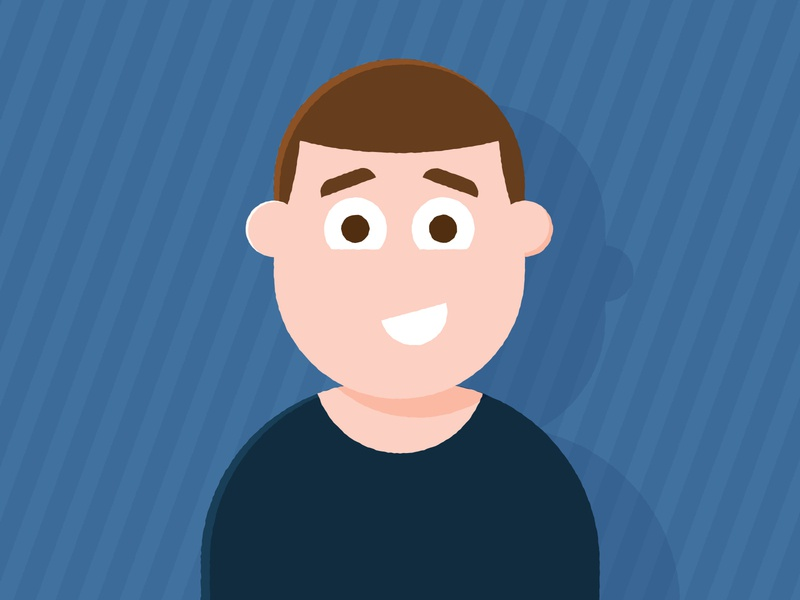 This is me! happy smile story fun friendly emotion hair body face design male man vector illustrator illustrations character design character self portrait animation