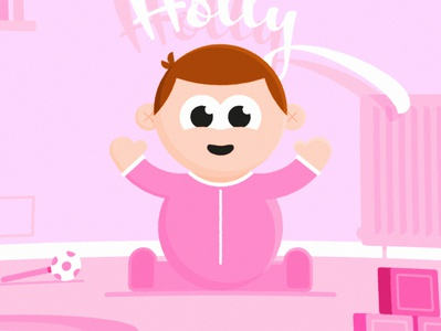 Holly vector after effects 2d father dad story children child baby character illustration illustrator adobe animation