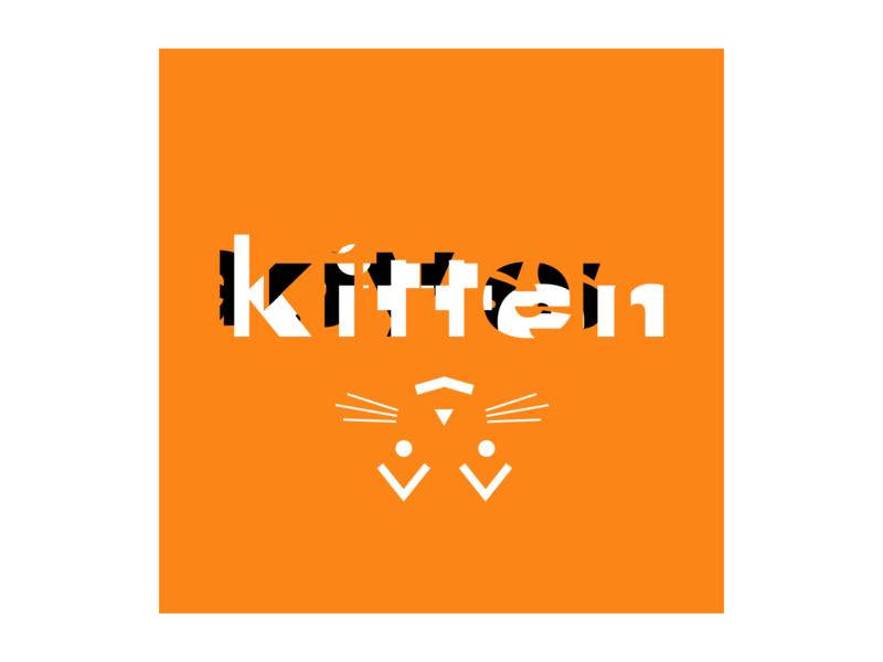 Kitten telegram cats avatar typography logotype cat kitten