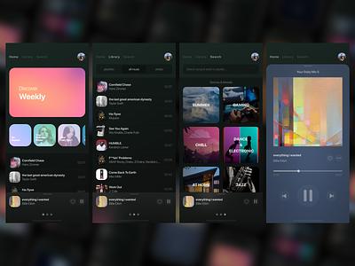 Spotify iOS App Design - Closer look glass music design ux ui app ios iphone iphone 11 pro spotify