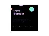 Personal Website in Dark colors with gradients website design concept space gradient dark landing personal website