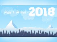 Hello Dribbble! Happy New Year! 2018 Postcard