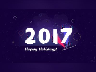 2017 Postcard wallpaper postcard new year holidays happy design 2017