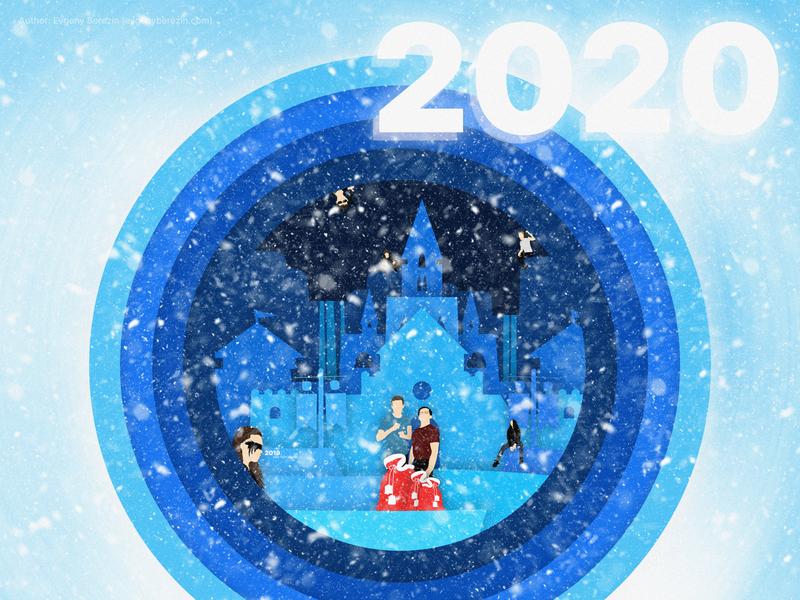 2020 New Year Postcard olaf elsa the 100 frozen snow illustration wallpaper christmas holidays 2020 postcard new year