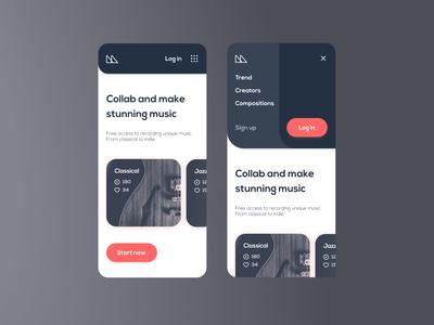 Music mobile website