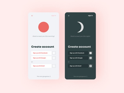 Sign Up for mobile app
