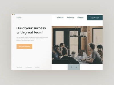 Landing page for job seeker
