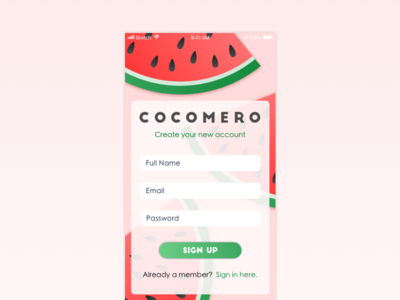 Daily UI Challenge #001 sign up sign in log in daily ui ui challenge dailyui app