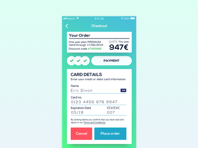 Daily UI Challenge #002 checkout credit card 002 ui daily dailyui challenge app