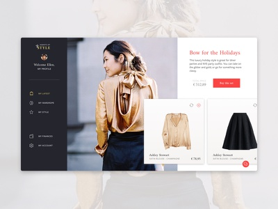 Stylist platform — getting a set of clothes ux platform stylist clothing fashion