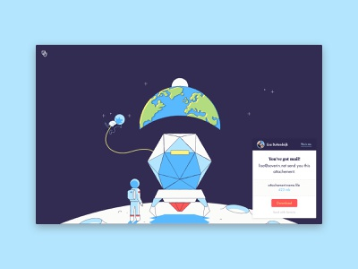 File Download Page - Soverin minimal soverin transfer file download illustration ux ui