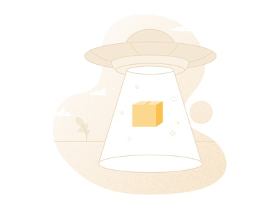 Illustration for Boxture [3] delivery service delivery alien ufo package illustration