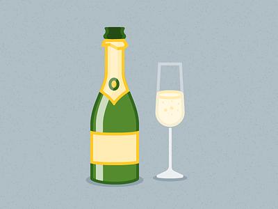 Illustration Challenge #1 - Champagne Bottle daily illustration illustration challenge