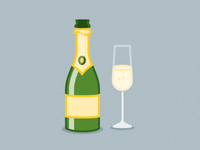 Illustration Challenge #1 - Champagne Bottle