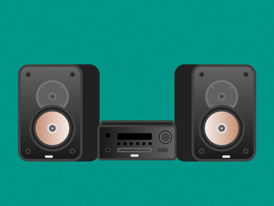 Illustration Challenge #2 - Stereo System daily illustration illustration challenge