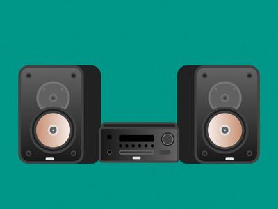 Illustration Challenge #2 - Stereo System