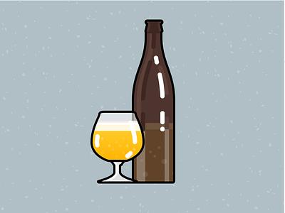 Illustration Challenge #3 - Beer Bottle & Glass daily illustration illustration challenge