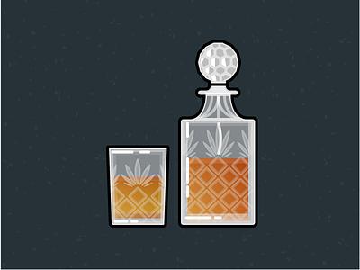 Illustration Challenge #4 - Whiskey Carafe and Glass daily illustration illustration challenge