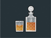 Illustration Challenge #4 - Whiskey Carafe and Glass