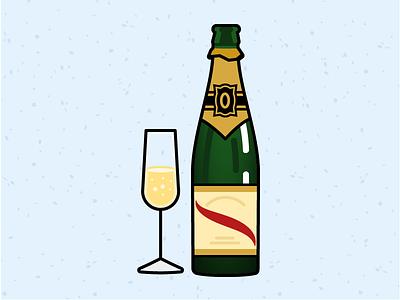 Illustration Challenge #5 - Champagne Bottle  daily illustration illustration challenge