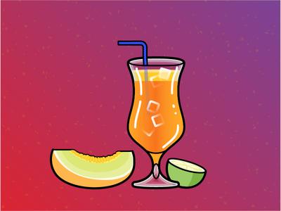 Illustration Challenge #6 - Tropical Cocktail