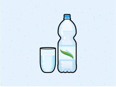 Illustration Challenge #7 - Water Glass & Bottle