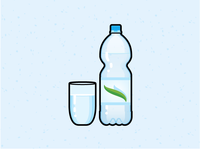 Illustration Challenge #7 - Water Glass & Bottle