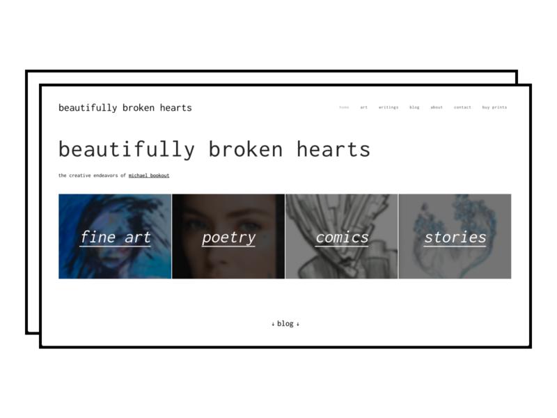 Beautifully Broken Hearts Landing Page landing page design landing page landingpage artist website graphic design branding design minimalism typogaphy web design