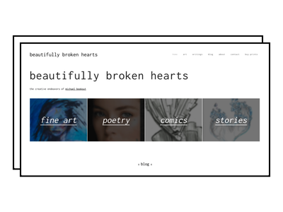 Beautifully Broken Hearts Landing Page landing page design landing page landingpage artist website graphic design branding design minimalism typogaphy web design