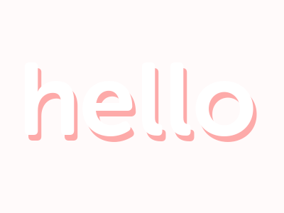 Hello graphic design type typography design new first