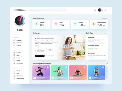 Lifestyle Dashboard web app