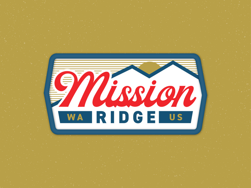 Mission Ridge Patch mountain design vintage usa washington landscape snowboard skiing ski patch badge
