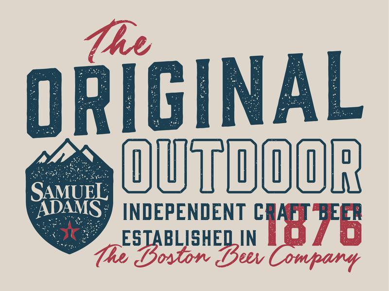 Samuel Adams Original vector design apparel badge texture vintage boston independent original outdoor brewery beer