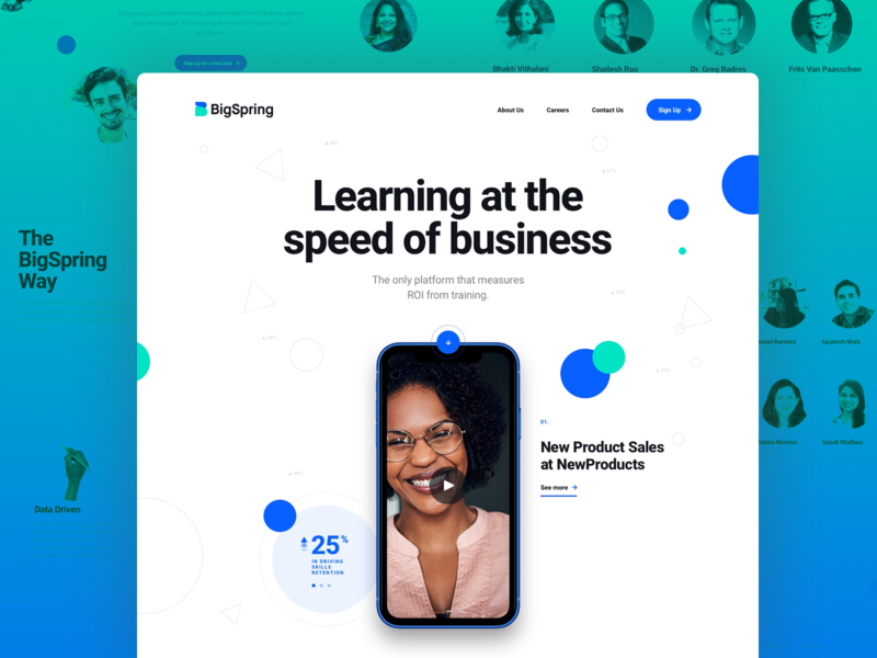 BigSpring - Homepage scroll colors white tech startup website webdesign bigspring