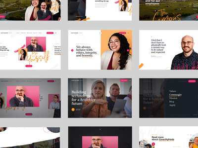 Cover My Meds Experience - Recap layout product clean startup human pink color website experience unicorn white webdesign