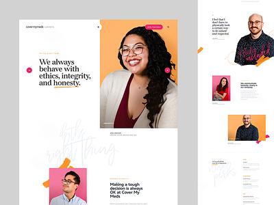 Cover My Meds - Mission product white design layout website dogstudio webdesign