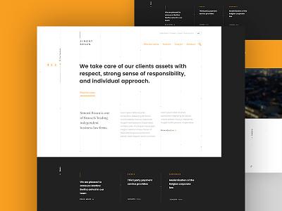 Lawyer website - Pitch website webdesign full-size layout lawyers dogstudio pitch