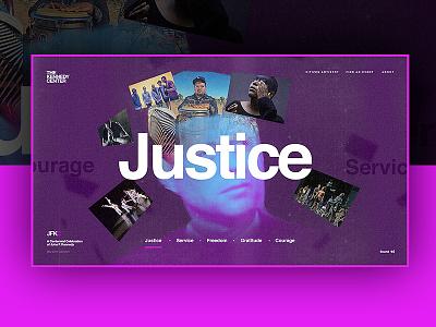 JFKC - Ideals Page - Concept 1 webdesign design concept ideals website kennedy dogstudio kennedy center jfkc