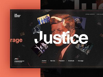 JFKC - Ideals Page - Concept 2 webdesign design concept ideals website kennedy dogstudio kennedy center jfkc