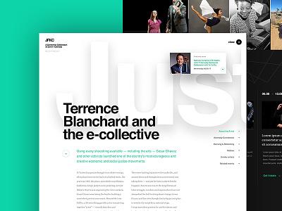 JFKC - Stories Page - Concept 1 webdesign design concept ideals website kennedy dogstudio kennedy center jfkc