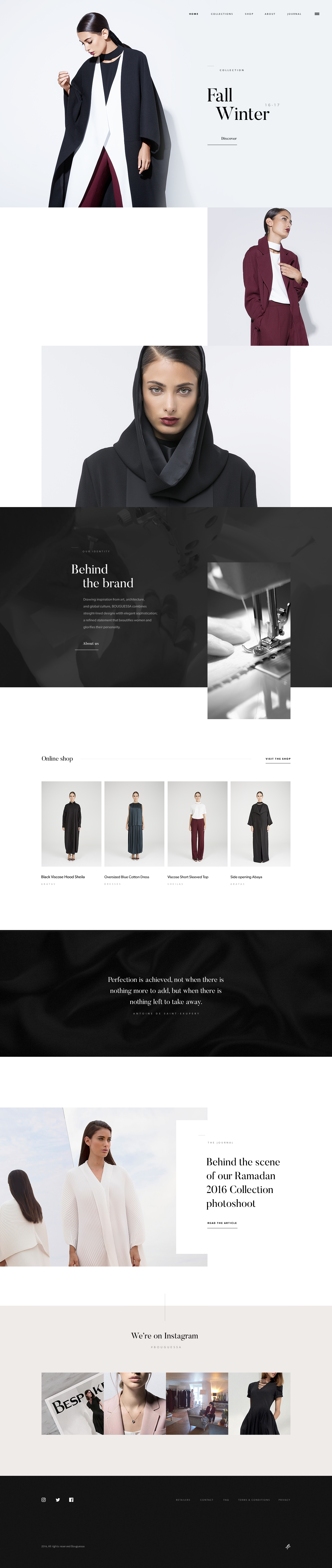 Bouguessa homepage by dogstudio