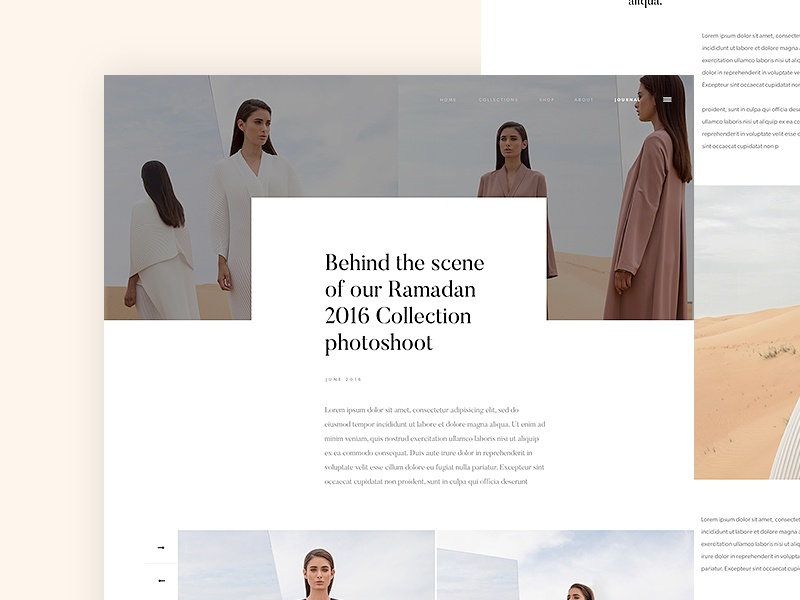 Bouguessa - Journal whitespace clean couture webdesign design collection brand luxury bouguessa white fashion